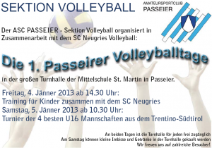 1. Passeirer Volleyballtage