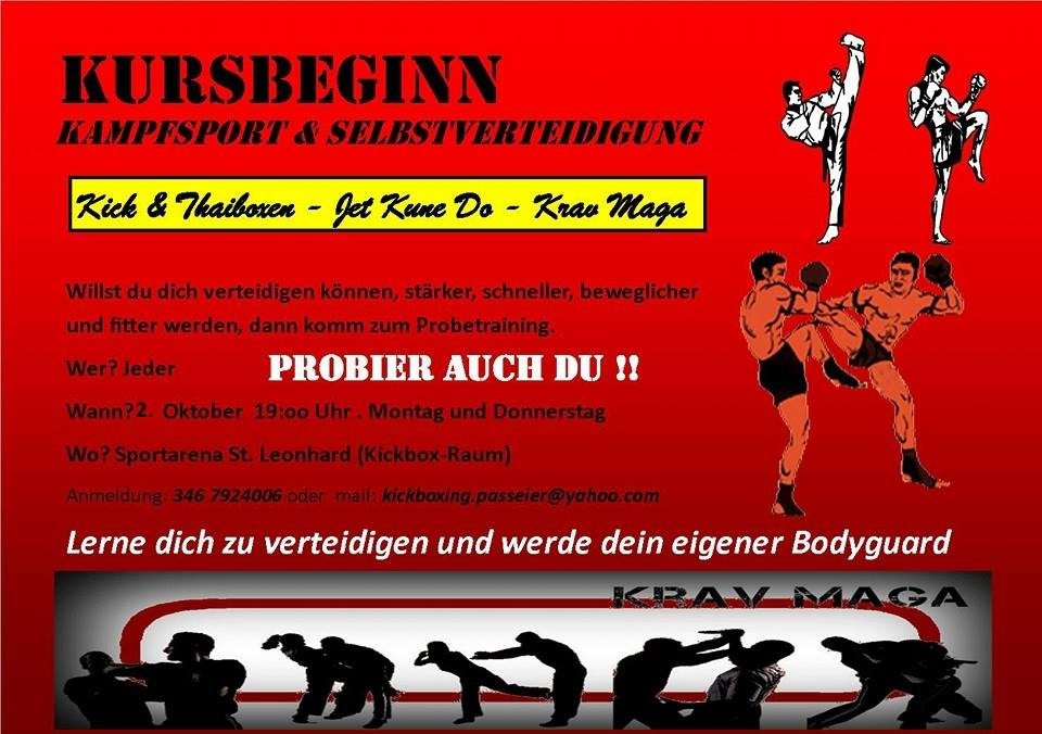 Sektion Kickboxen – Trainingsbeginn